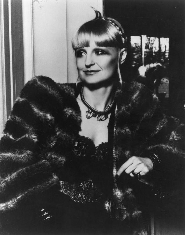 Biba founder Barbara Hulanicki in divinely decadent Deco style