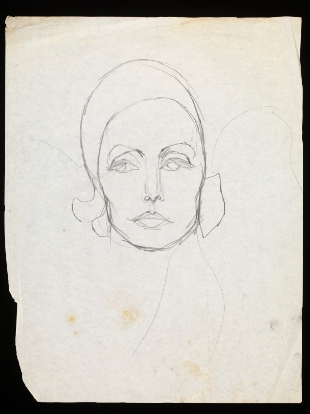 Hulanicki's new book includes many of her illustrations, including this sketch of Greta Garbo, circa 1958. Biba was synonymous with Old Hollywood style